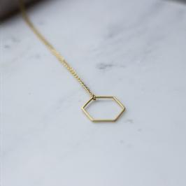 Kette Hexagon Gold