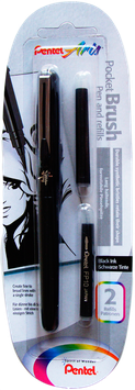 Pinceles Pentel Pocket Brush Blister