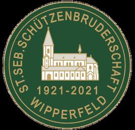 """Zusatzprodukt - Jubi-Anstecker """"100 Jahre Schützenbruderschaft Wipperfeld 1921 e.V."""""""