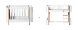 Oliver Furniture kit de conversion basic en lit junior mezzanine
