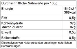 Bio Rohrohrzucker