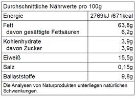 """Pfv - """"Römer"""" Bio Haselnusskerne, natur, ungeschwefelt"""