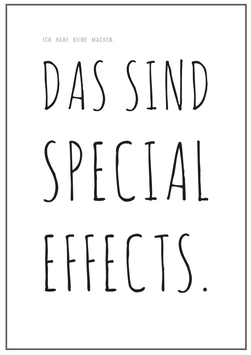 "Poster ""Special Effects"""