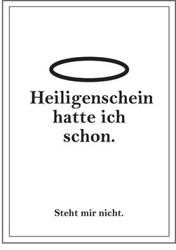 """Poster """"Heiligenschein"""""""