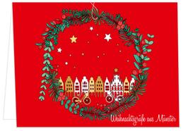Weihnachtskranz – Weihnachtsgrüße aus Münster