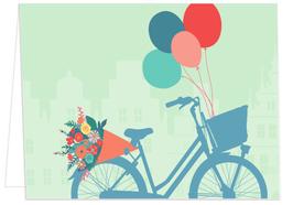 Fahrrad mit Ballons