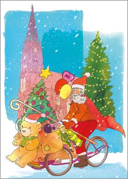 Radfahrer - Weihnachtsteddy