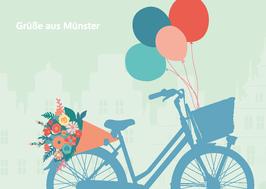 Fahrrad / Grüße / Blumen