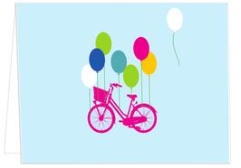 Ballons tragen Rad