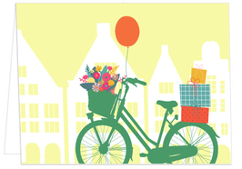 Giebelhäuser, Geschenke und Fahrrad