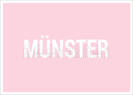MÜNSTER Giebelhäuser rosa