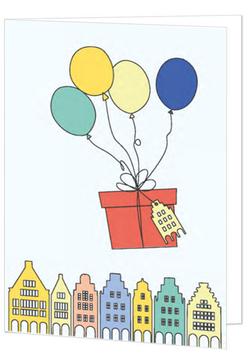 Geschenk mit Ballons