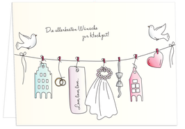 Die allerbesten Wünsche zur Hochzeit!