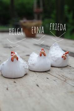 Kleines Huhn - weiß