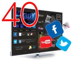 "Smart HOTELTV 40"" FULLHD 1080P LAN+WIFI"