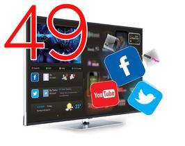 "Smart HOTELTV 49"" FULLHD 1080P LAN+WIFI"