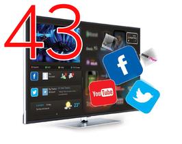 "Smart HOTELTV 43"" FULLHD 1080P LAN+WIFI"