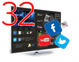 "Smart HOTELTV 32"" FULLHD 1080P LAN+WIFI"