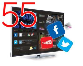 "Smart HOTELTV 55"" FULLHD 1080P LAN+WIFI"