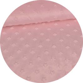 Minky Flausch Sterne rosa