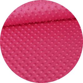 Minky Flausch punkte pink