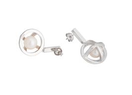 Hidden Globe - Drop Stud Earrings