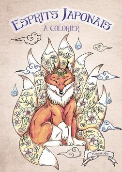 """livre de coloriage """"Esprits Japonais"""" à colorier"""