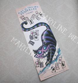 """marque-page """"Alice au pays des Merveilles"""" le chat"""