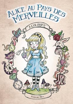 """livre de coloriage """"Alice au pays des Merveilles"""" à colorier"""