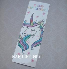 """marque page """"licorne arc en ciel"""""""