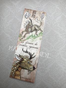 marque page licorne japonaise Kirin