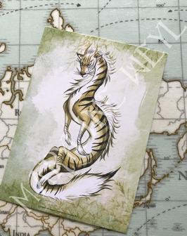 Carte Postale dragon d'Asie Neko