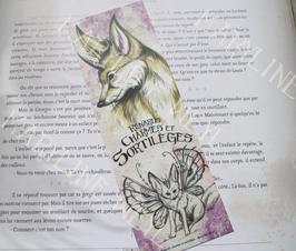 "marque-page ""renards, charmes et sortilèges"" renard des sables"