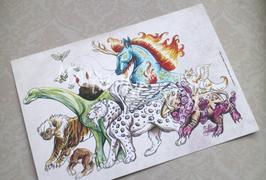 """Carte postale """"étranges créatures"""""""