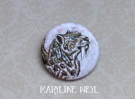 badge broche tigre à dent de sabre
