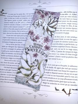 "marque-page ""renards, charmes et sortilèges"" renard kitsune blanc"