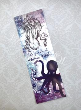 """marque page """"le grimoire des animaux fabuleux kraken"""""""