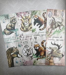 4 marque page créatures japonaises4 marque page créatures japonaises