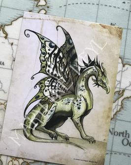 Carte Postale Dragon Féerine
