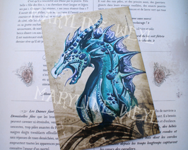 Carte Postale Dragon bleu