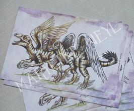carte postale vélociraptor