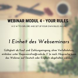 Webinar Modul 4 - Your Rules