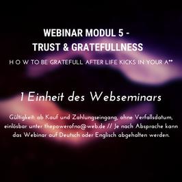 Webinar Modul 5 - Trust & Gratefullness