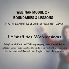 Webinar Modul 2 - Boundaries & Lessons
