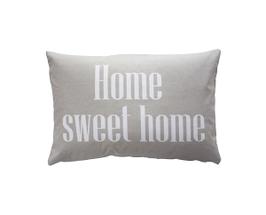 Kissenhülle Home sweet home, beige
