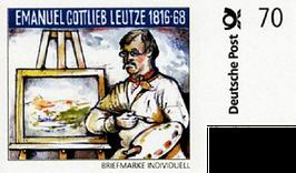 """Nr. 3 Briefmarke individuell """"Leutze 70 Cent"""""""