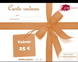 Carte cadeau 25 €