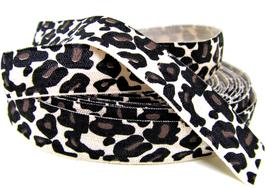 Ruban élastique imprimé léopard - 15 mm