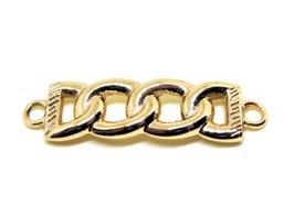 Connecteur anneaux doré - 43 x 11 mm - TR055