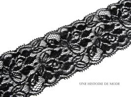 1 mètre de dentelle noire  - 60 mm de largeur - D78